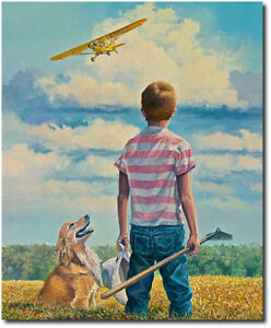 If Only I Could Fly Lrg Giclee by Rick Herter Piper Cub Aviation Art