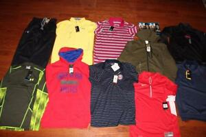 LOT OF MENS NIKE UNDER ARMOUR SHIRTS UA GOLF POLOS STORM VEST HOODIES SMALL NWT