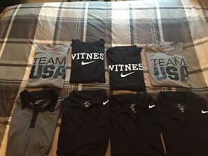 HUGE LOT OF (8) MENS XL NIKE DRI-FIT SHIRTS POLOS