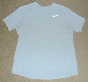 Mens Extra Large XL Nike Dry Miler Reflective Running Athletic Vented SS Shirt
