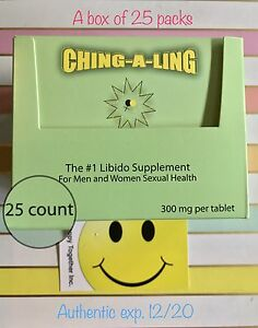 25 Ching-A-Ling pills Sexual supplement for Men and Women Plus Free Samples 🙂!