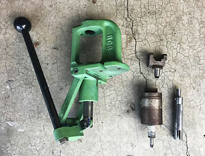 Modified RCBS RC Rock Chucker Single Stage Reloading Press w Extras