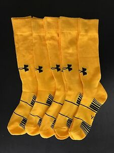 $20 OFF EBAY* Under Armour Soccer Socks High Calf Yellow 5packs Youth large Boy