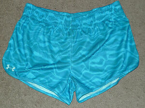 Womens Large L Under Armour UA Tidal Swell Shorts Semi-Fitted Athletic Shorts