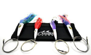 High Speed WAHOO Trolling Set with Lure Bag + Fully Wire and Cable Rigged MagBay