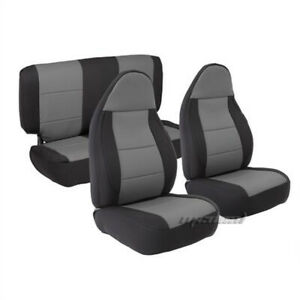 Smittyblit 471322 03-06 Wrangler TJ Neoprene Seat Cover FrontRear-Charcoal