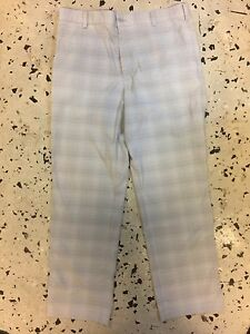Nike Golf Men's Golf Pants Striped GrayLight GrayWht size 3330 Excellent c.