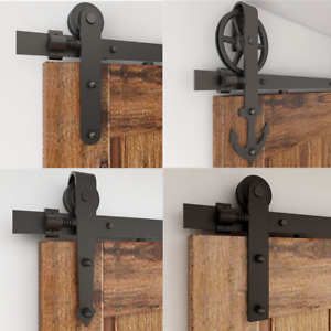 4-16FT Sliding Barn Door Hardware Track Kit American Style SingleDoubleBypass
