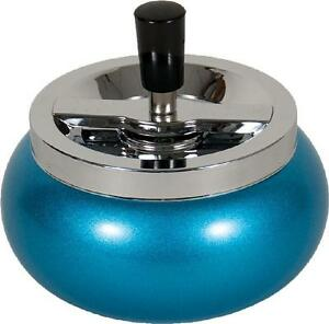5.5quot; Large Metal Spinning Ashtray Blue $11.49
