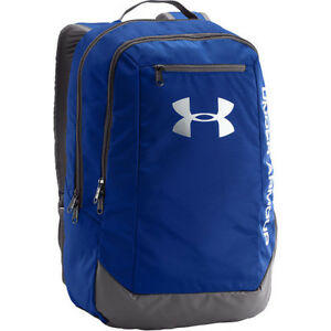Under Armour Hustle Ldwr Mens Rucksack - Royal Graphite Silver One Size
