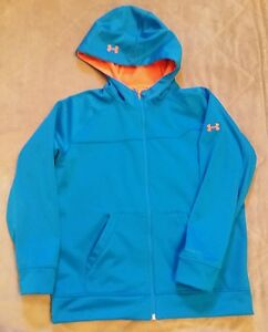 Under Armour Storm lightweight coldgear BLUE infrared JACKET BOYS XL coat youth