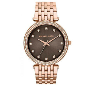 New Michael Kors MK3217 Women's Darci Rose Gold Glitz Bracelet 39mm Case Watch