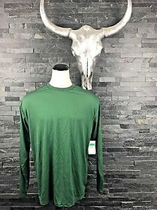 VINTAGE NIKE FIT-DRY 2OO7 LONG SLEEVE GREEN ATHLETIC MEN XL SHIRT NEW WITH TAGS