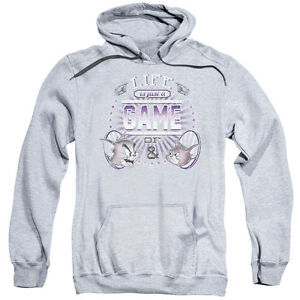 Tom And Jerry Life Is A Game Pullover Hoodies for Men or Kids