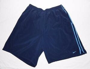 Nike Youth Boys Fit Dry Navy Blue Athletic Gym Shorts Size XL 28