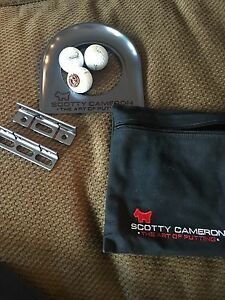 SCOTTY CAMERON BLACK ANODIZED PUTTING CUP W3 Titleist SCOTTY Pro V1x+BLACK BAG