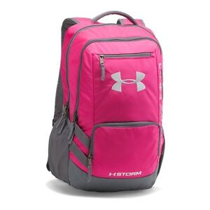 ORIGINAL Under Armour Storm Hustle II Backpack Tropic PinK One Size WATERPROOF