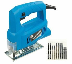 Silverline 350W Electric Jigsaw Cutter Inc 10 Jig Blades for Wood and Metal GBP 23.99