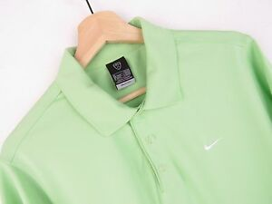 JY2754 NIKE POLO SHIRT TOP ORIGINAL PREMIUM GREEN FIT DRY SPORT COLLARED size M
