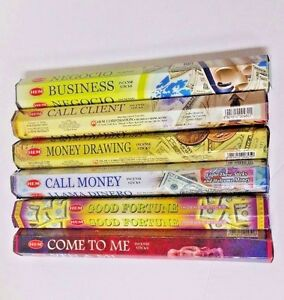 Hem Incense Stick Set 6 x 20 =120 Sticks Wicca Mixed Lucky Scents Free Shipping