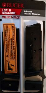 RUGER LCP II 380acp 6 round Magazine 90644 6rd Mag .380 ACP OEM - Value 2 Pack