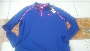 NWT UNDER ARMOUR pullover 14 zip size XL UA Loose fit heat gear mens xl top
