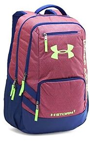 Under Armour UA Storm Hustle II Unisex Backpack CaspianChromolime Water Resist