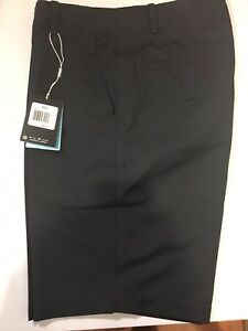 Mens Nike Golf Shorts FLAT Size 32 BLack Fit Dry Polyester
