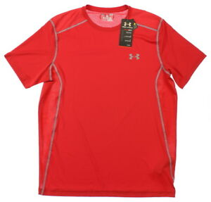 Under Armour 0698 Athletic Mens UA Raid Short Sleeve T-Shirt Sports Rapture Red