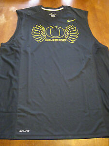 Oregon Ducks black sleeveless DRI-FIT X Large Basketball tank NWOT