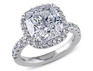 Amour 5 58 CT TW Diamond Halo Engagement Ring in 19k White Gold