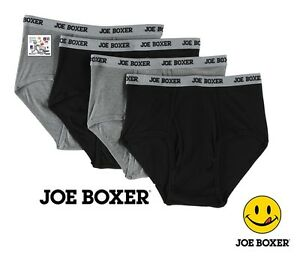 Joe Boxer Men's Cotton Briefs in Assorted  Colors 3 6 or 9 Value Packs