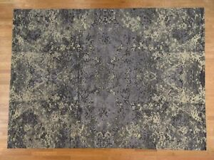 10'2''x13'10'' HandKnotted Wool and Silk Abstract Design Modern Rug G37148