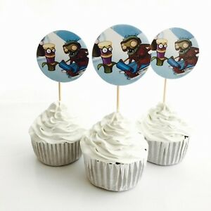 12x Plants Vs Zombies Food Toppers. Party Supplies Lolly Loot Bag Bunting AU $3.50