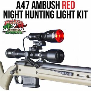 Wicked Lights A47 Ambush Red Night Hunting Light Kit for Coyotes Foxes Hogs