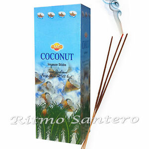 COCONUT -COCO Incense Sticks Cleanse Magick Spell Offering Incienso Wicca Ritual