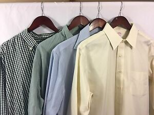 Brooks Brothers Sport Dress Shirts Large Lot Of 4 Career Casual LS Button Down