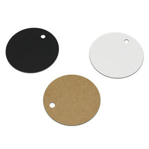 RoundOval Kraft Paper Hang Tags Gift Wedding Party Favor DIY Blank Label Cards