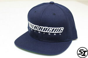 VOLK RACING ORIGINAL RAYS SNAP BACK HAT BLUE WITH GREEN UNDER BRIM TE37 ZE40