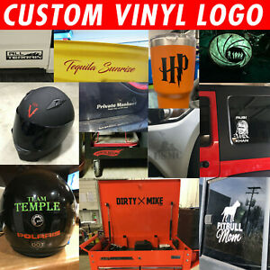 Custom Logo Symbol Decal Window Sticker You pick Color amp; Size FAST SHIPPING