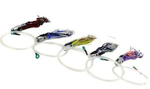 8 Inch Jet Head Lures - Fully Rigged 4 Pack + Lure Bag - Mahi Tuna Marlin Lures