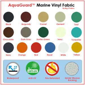 MARINE VINYL FABRIC UPHOLSTERY-AUTO-BOAT AQUAGUARD™ (23 CLRS)1-5-10-15-20-30 YDS