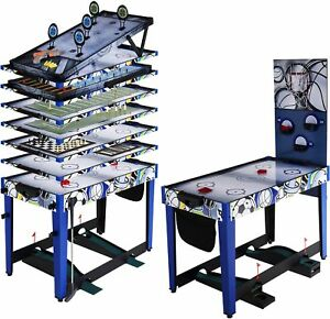 13-In-1 Kids Multi-Game Board Chess Basketball Air Hockey Play Table Toy Set New