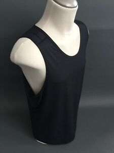 Lululemon OUT RUN Tank Men's Black Shirt Sleeveless Top Size XL Extra Large