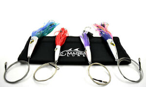 High Speed V2 Wahoo Trolling Set with Lure Bag + Wire and Cable Rigged MagBay