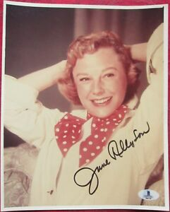 June Allyson Actress signed 8x10 photo BAS Beckett Authentic auto