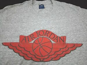 RARE VINTAGE NIKE AIR JORDAN BASKETBALL TRI-BLEND T SHIRT RAYON ATHLETIC 80s