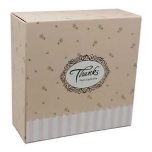 Gift Box Paper Wedding Party Birthday Favor Candy Cake Cookie Packaging Boxes