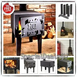 Portable Outdoor Camping Steel Wood Stove Tent Heater Fishing Camp Cooking Fire
