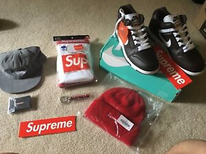 Lot of Deadstock Supreme Unopened In Hand FW2017 Collection Hats Nike Collab